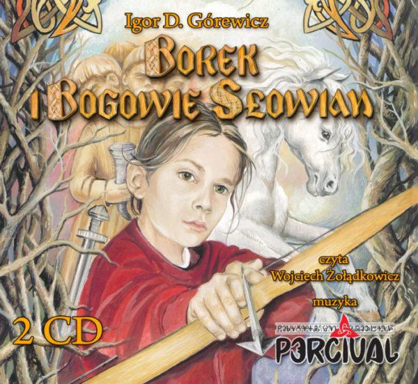 """""""Borek i Bogowie Słowian"""" audiobook okładka"""