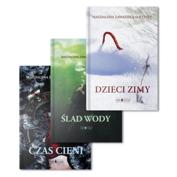 Trzy tomy serii Ślady Leszego
